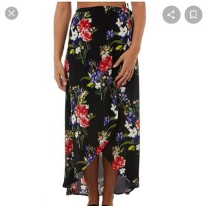 SWELL Floral High Low Maxi Wrap Skirt NWT